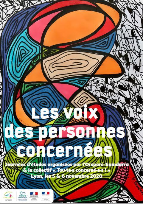 Les voix des personnes concernées : participation du Centre Francis Feydel aux journées d'études organisées par l'Orspere-Samdarra & le collectif «Tou·te·s concerné·e·s ! «