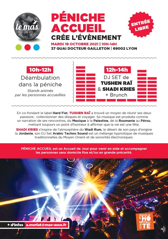 PÉNICHE ACCUEIL crée l'événement le 19/10 : DJ SET de TUSHEN RAÏ & SHADI KHRIES